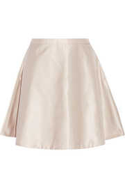 Satin-twill skirt