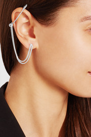 Paperclip silver-tone earring