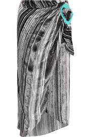 J.W.Anderson Striped devoré-velvet midi skirt