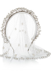 Bouquet palladium-tone pearl headband