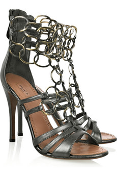 Alaïa Chain-link leather sandals