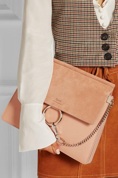chloe elsie python bag - Chlo�� | Faye medium leather and suede shoulder bag | NET-A-PORTER.COM