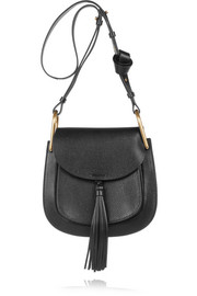 Chloé Hudson medium tasseled textured-leather shoulder bag