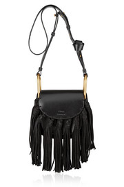 Chloé Hudson mini tasseled leather shoulder bag