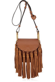 Hudson mini tasseled leather shoulder bag