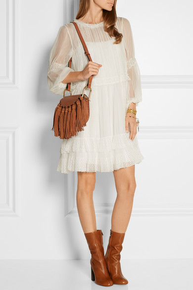 Chlo�� | Hudson mini tasseled leather shoulder bag | NET-A-PORTER.COM