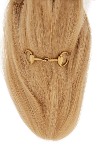 a6b3ddf98 Gucci   Horsebit-detailed goat hair slippers   NET-A-PORTER.COM