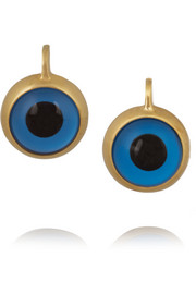 Beeeary 10-karat gold and enamel earrings