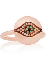 IAM by Ileana Makri Little Dawn rose gold-plated cubic zirconia ring