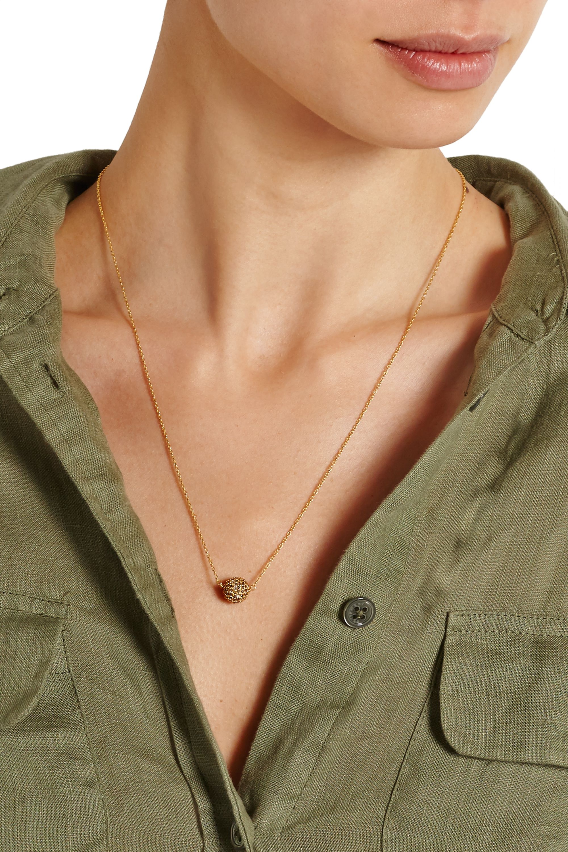 EYE M by Ileana Makri Gold-plated diamond necklace