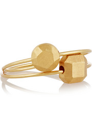 Set of two 10-karat gold rings