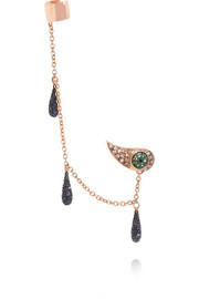Ileana Makri Chained Tears 18-karat rose gold multi-stone ear cuff