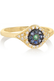 Ileana Makri Cats Eye 18-karat gold multi-stone ring