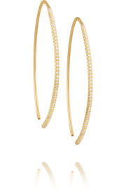 Eye 18-karat gold diamond earrings