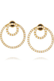 Circle 18-karat gold diamond earrings