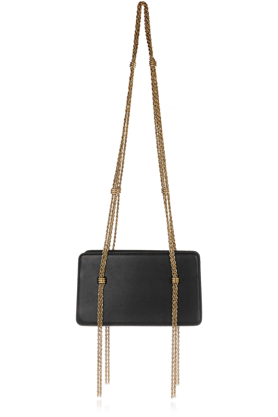 Lanvin Boxy Leather Shoulder Bag, Black, Women's, Size: One Size