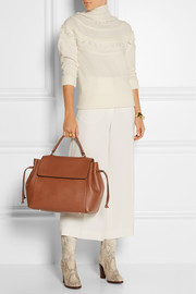 Nomad textured-leather tote