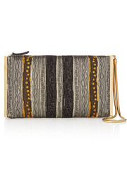 Private metallic brocade clutch