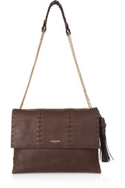 Sugar medium textured-leather shoulder bag