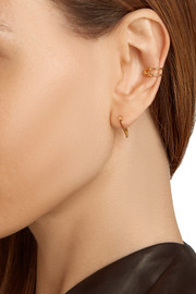 Safety Pin 10-karat gold ear cuff