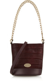 Jamie mini croc-effect calf hair and leather bucket bag
