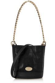 Jamie croc-effect leather bucket bag