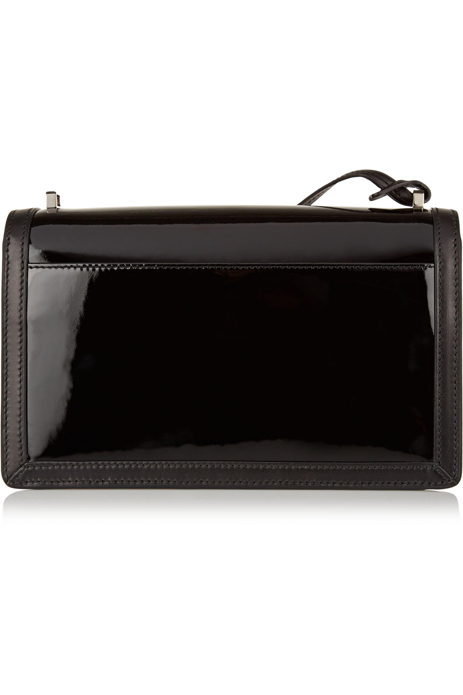 Loewe Barcelona matte and patent-leather shoulder bag