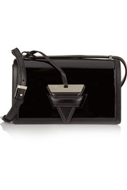 Loewe Barcelona matte and patent-leather shoulder bag