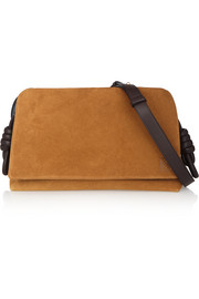 Loewe Flamenco Flap leather and suede shoulder bag