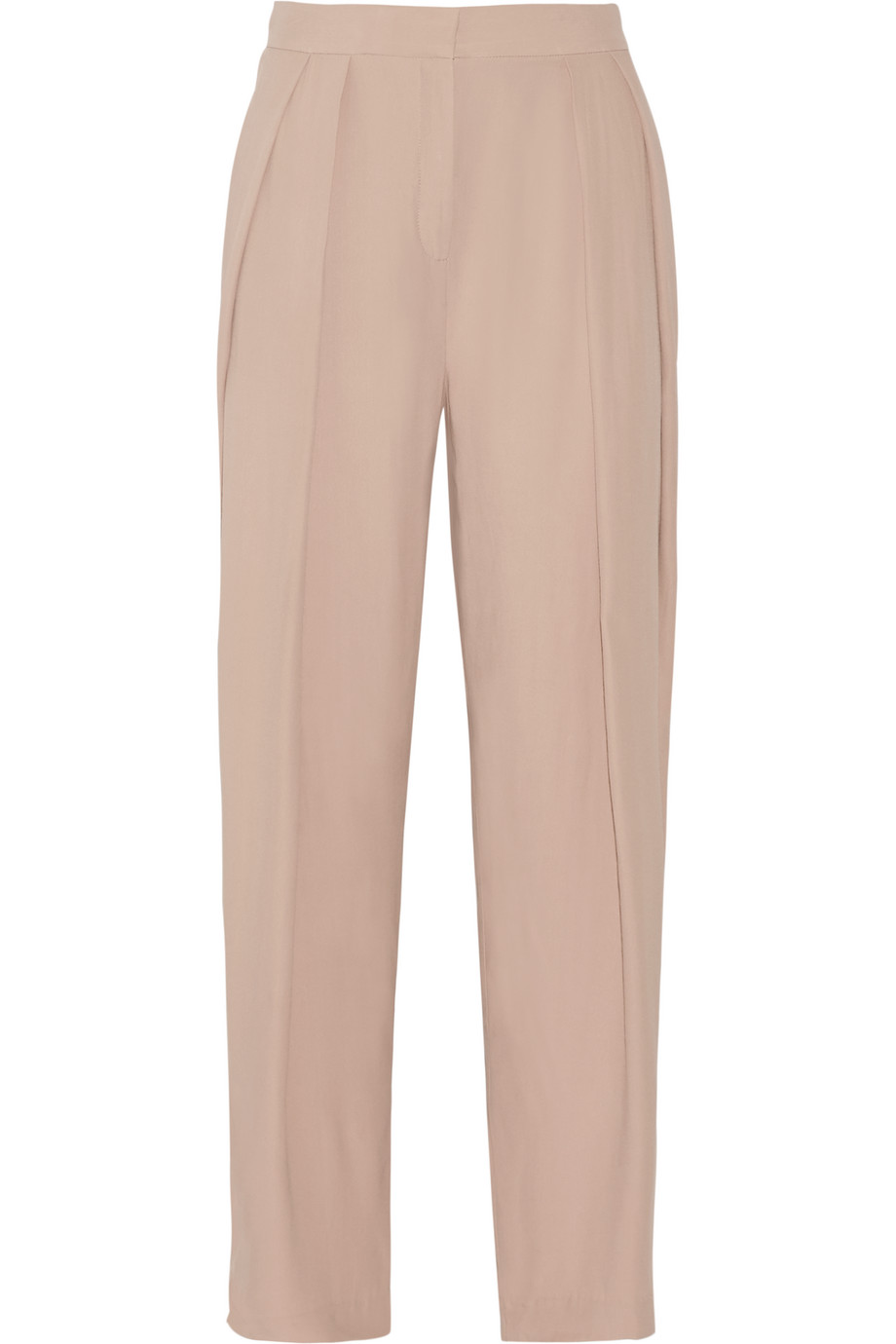 Melanoa Pleated Crepe Wide-Leg Pants, By Malene Birger, Blush, Women's, Size: 40