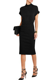 Walios stretch-silk and wool-blend dress