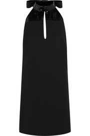 Maison Margiela Patent-paneled wool-twill mini dress