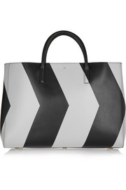 Ebury Maxi reflective chevron leather tote
