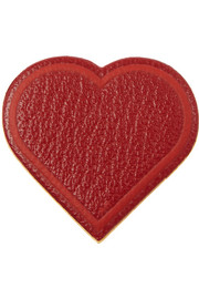 Heart textured-leather sticker