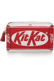 Kit Kat® textured-leather clutch