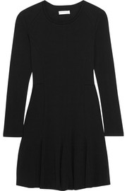 Paneled wool dress