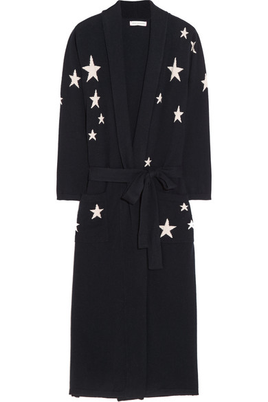 2b9bdfe457 Chinti and Parker. Star-intarsia cashmere robe