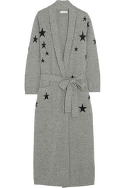 Chinti and Parker Star-intarsia cashmere robe