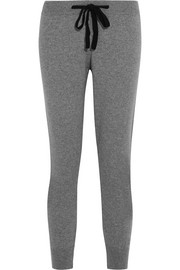 Two-tone cashmere sweatpants