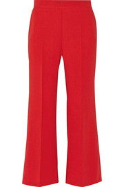 Fendi Cropped stretch-wool flared pants