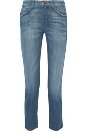 The Vintage cropped high-rise straight-leg jeans