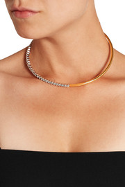 Gold-plated Swarovski crystal choker