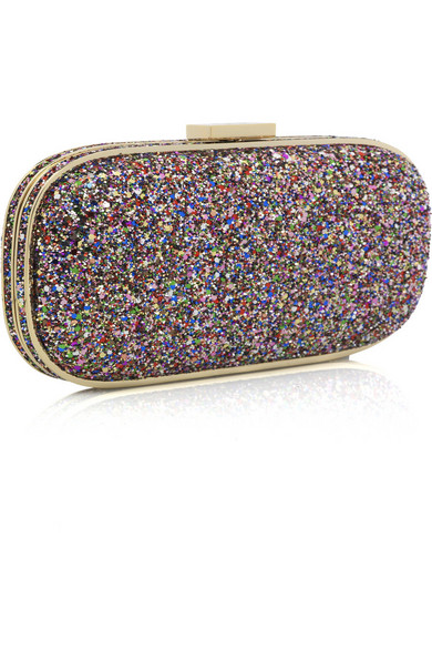 3129b4fe9c Anya Hindmarch | Marano glitter clutch | NET-A-PORTER.COM