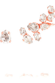 Rose gold-plated Swarovski crystal earrings