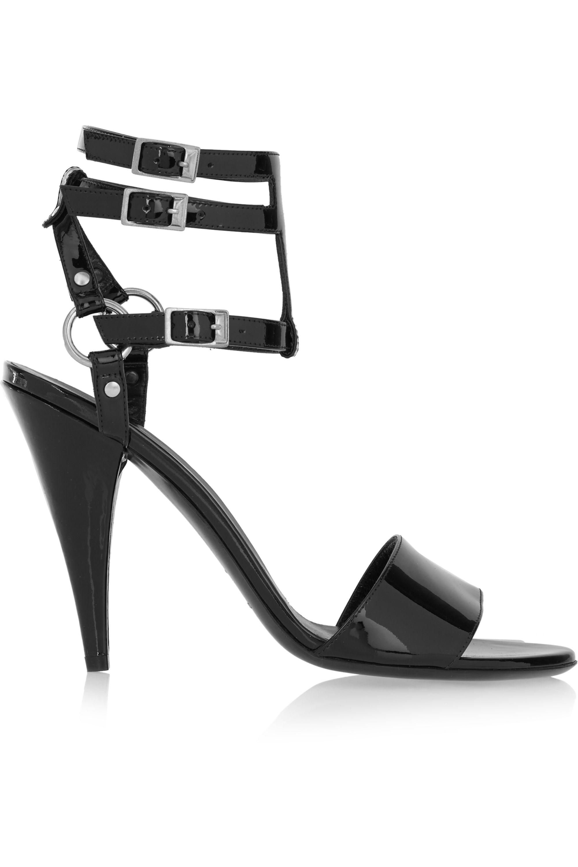 SAINT LAURENT Patent-leather sandals