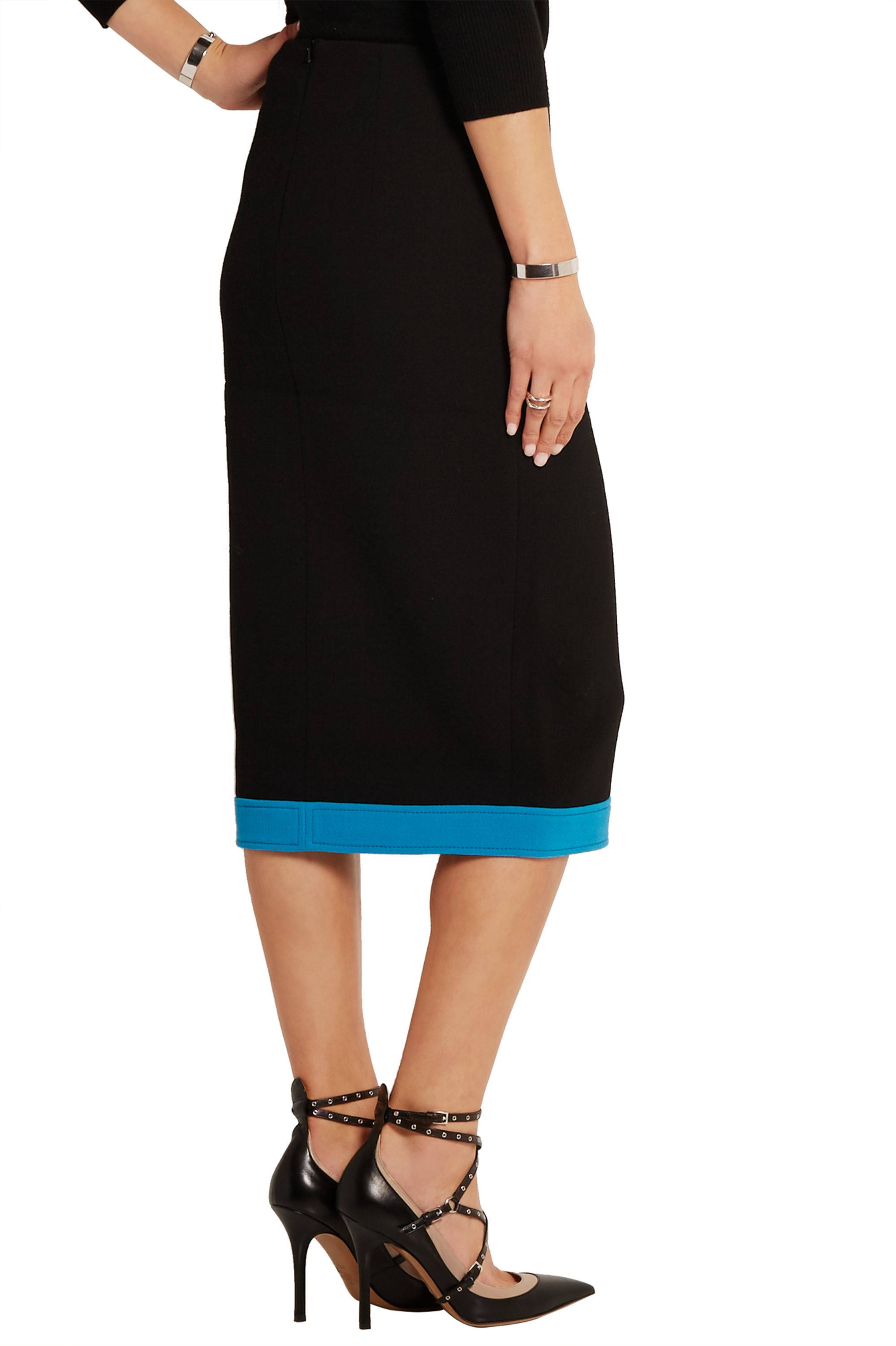 Peter Pilotto Lucia embellished wool-crepe skirt