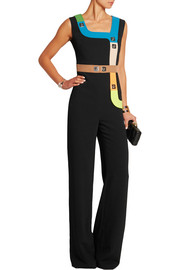 Peter Pilotto Track embellished stretch-cady jumpsuit