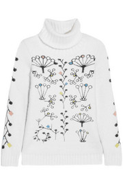 Peter Pilotto Berry intarsia angora-blend turtleneck sweater