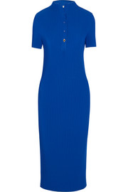 Pleated crepe midi dress
