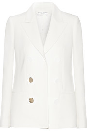Double breasted-effect crepe blazer